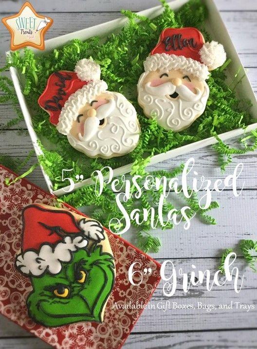 Santa Cookies Grinch Cookies