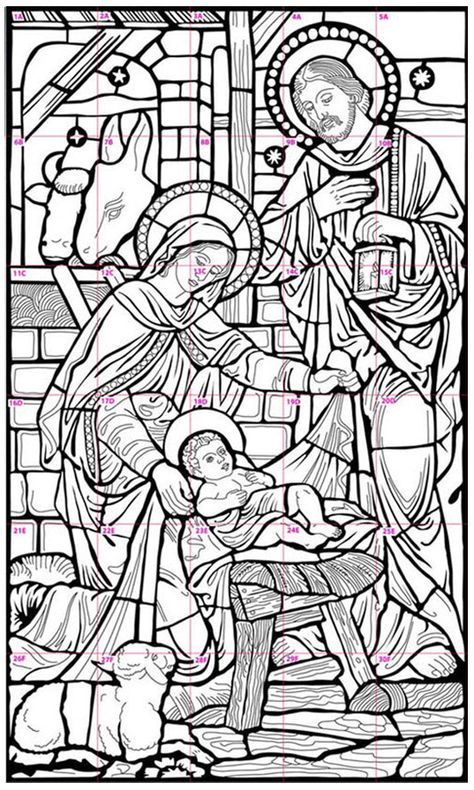 Nativity Mural Coloring Pages Nativity Nativity Coloring Pages