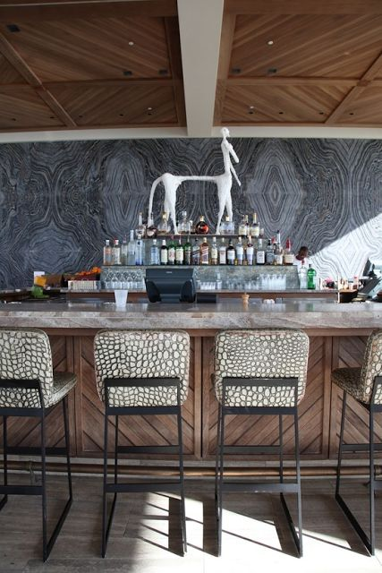 Outdoor bar at The Viceroy Anguilla Marie Flanigan Interiors: The Gentleman's Home: A Guide to Contemporary Masculine Design