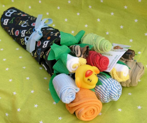 Baby Boy Clothing Gift Bouquet. good shower gift idea!