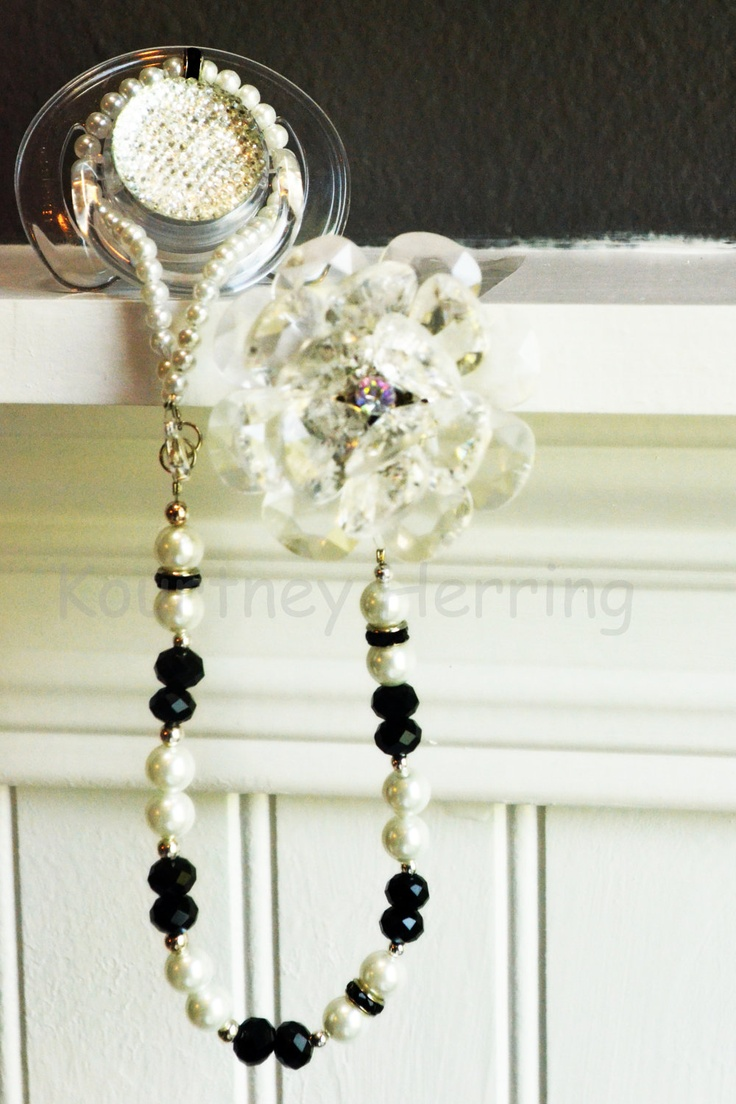 Love this! - Convertible 5in1 Pearl Beaded Necklace Pacifier Clip.
