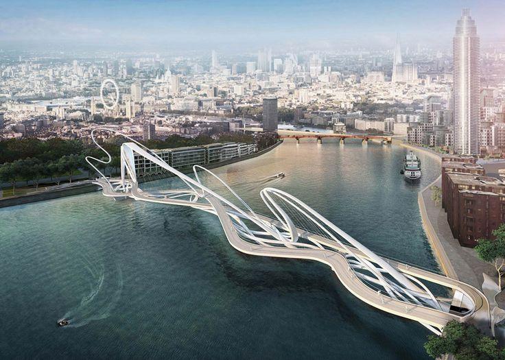 Designs for Elms Bridge over London's River Thames revealed