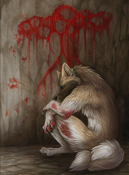 Sad Wolf Drawings Anime drawings on pinterest wolves, anime wolf and ...