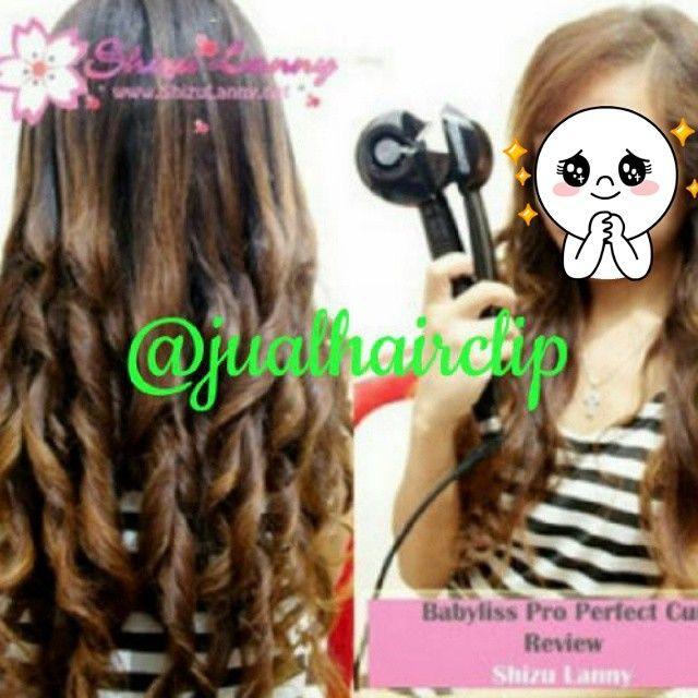 . Contak Order :  BBM : 58481B4B LINE : jualhairclip  Babyliss Pro - Catok Curly Keriting  Suka curly rambut? Tapi ga bisa pake catokan curly? Ini solusinya!! Babyliss perfect curl.. tinggal nyalain posisiin rambutnya tutup catokannya tunggu 8-15 detik.. buka!! Jadi deh kritingannya...!!! Skrg kritingin rambut ga repot lgi pake babyliss pro perfect curly..!! Dengan 3 sistem pengaturan suhu dan 3 sistem pengaturan waktu / Timer akan banyak menghasilkan kombinasi Curly.  Kini ingin punya…