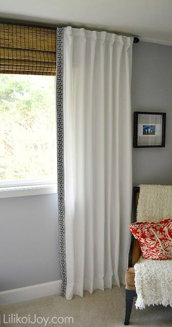 17 Images About Build Ikea Panel Curtain On Pinterest: Curtain Trim The Height Up To The Ceiling With Bamboo