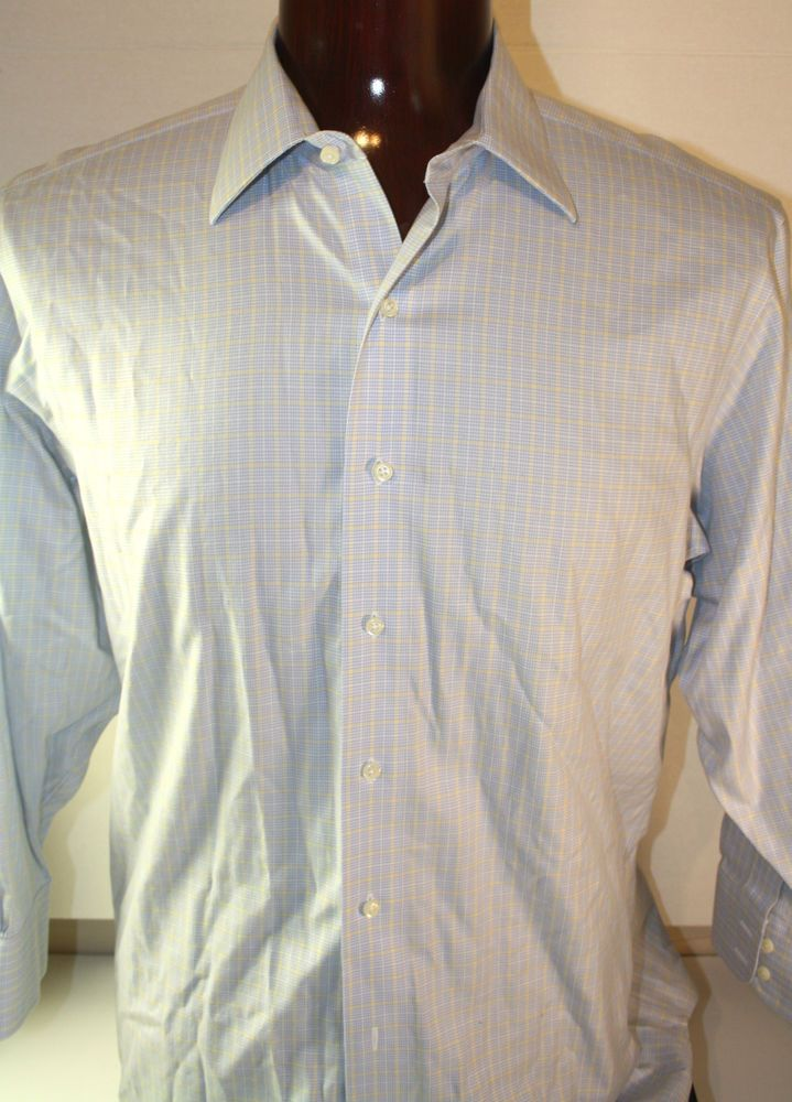 Brooks Brothers Mens Button Front Dress Shirt Long Sleeve 16.5 - 32 Non Iron