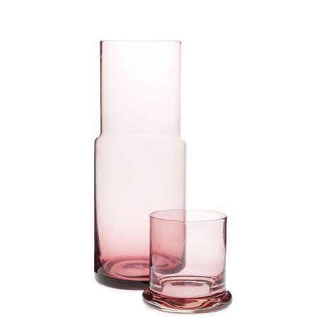 Service verre et carafe en verre bordeaux Zara Maison | Décormag