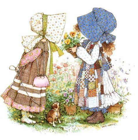 tengo un pañuelo con este dibujo de sarah kay ♥
