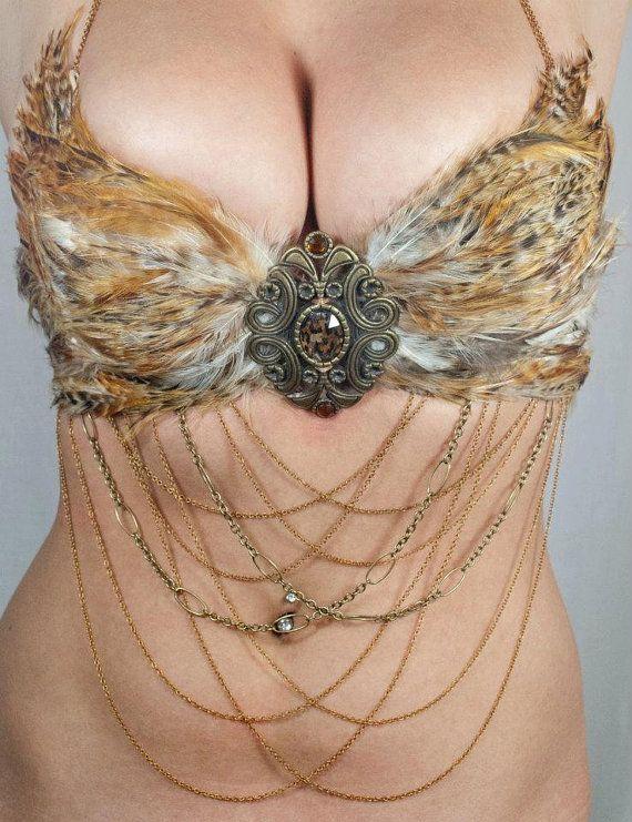 Feather Bra  custom by Wickedheart on Etsy, $130.00