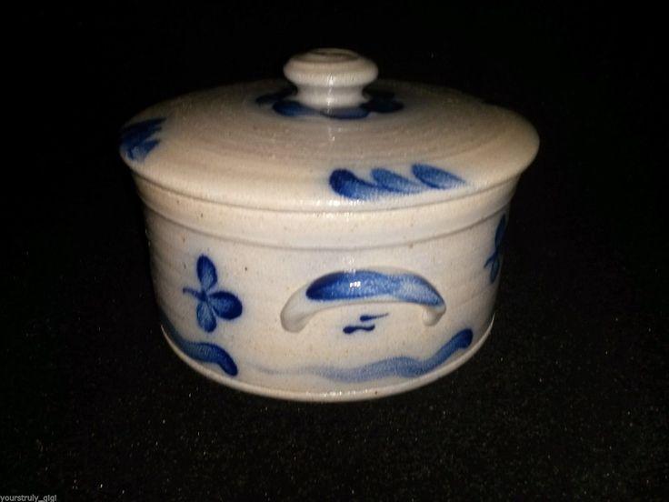 Rowe Pottery Vintage Limited Production Salt Glaze Covered Cake Crock 1989   eBay