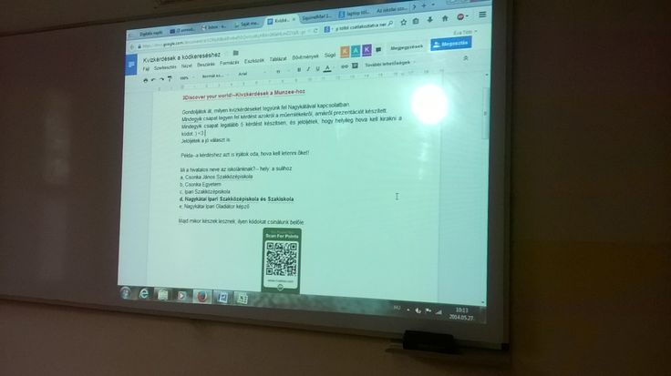 Today we started the creation of quiz questions for a Munzee hunt.