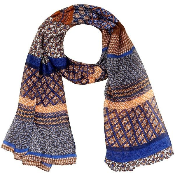 LERDU Women's Vintage Style Bohemian Voile Scarves Wrap Shawl Mosaic... ($12) ❤ liked on Polyvore featuring accessories, scarves, wrap scarves, shawl scarves, brown scarves, grey scarves and wrap shawl