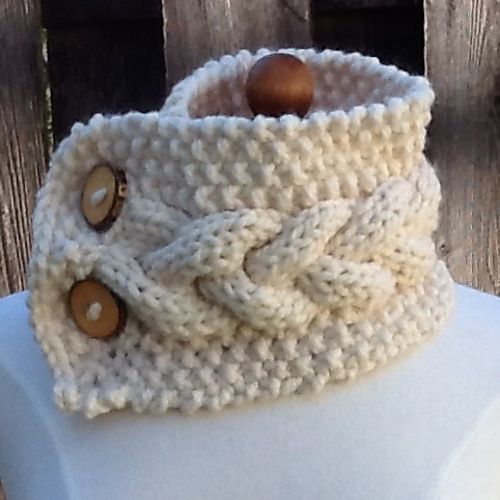 Ravelry: Braided Cable Neck Warmer pattern by Janet Fenn