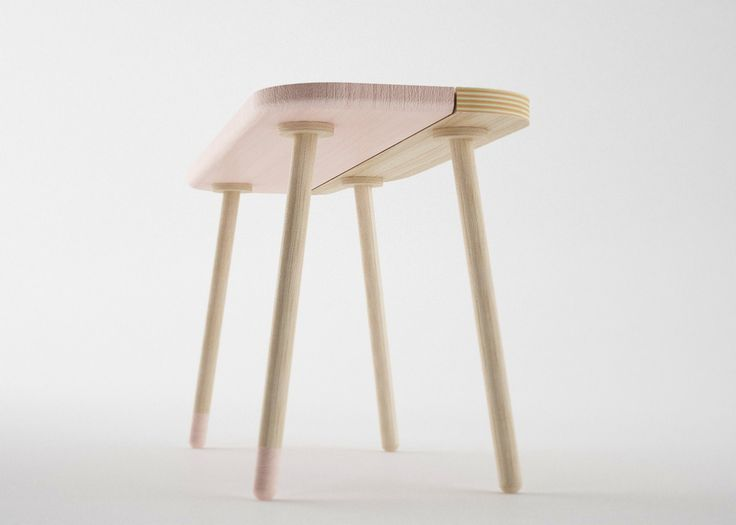The collection Bito Tables was created by Nicola Conti, an Italian designer based in Pesaro. Three tables are made of plywood and oak, a contemporary blend of materials. The tabletops are split into two parts, a colorful pastel side and a naturally finished counterpart. Below, the colorful side also sports a single painted leg. The …