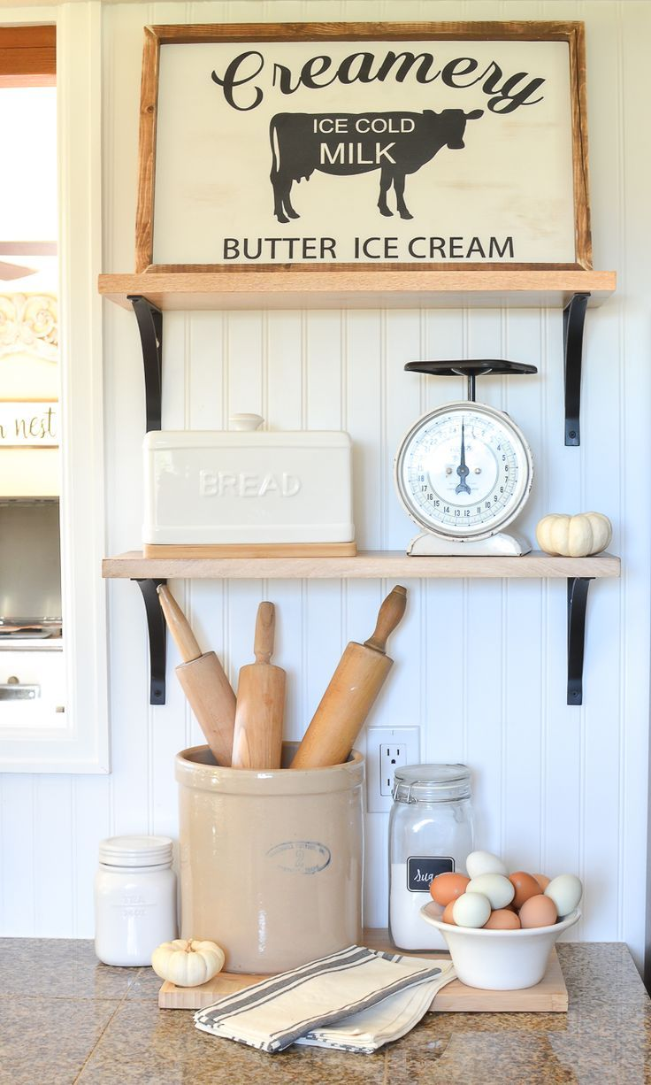 497 best open shelving images on Pinterest | Country kitchens ...