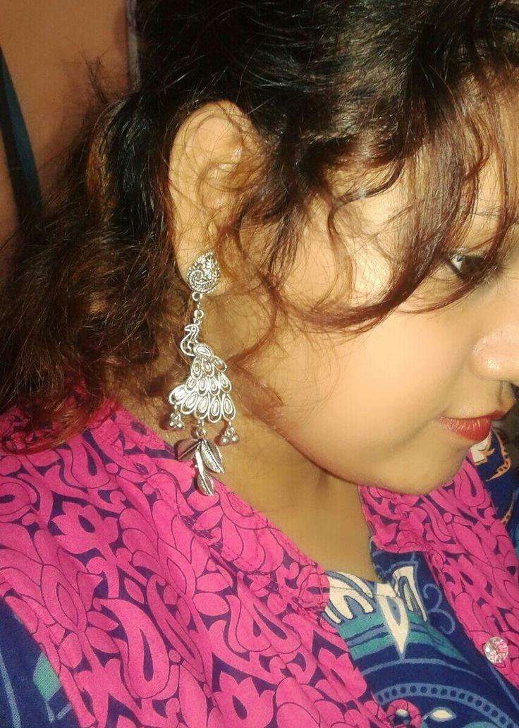 Beautiful Peacock earring♥