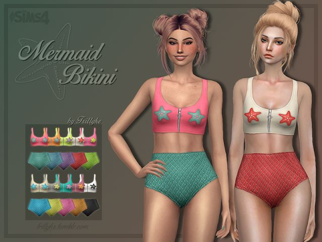Sims 4 CC's - The Best: Mermaid Swimsuit Set by trillyke