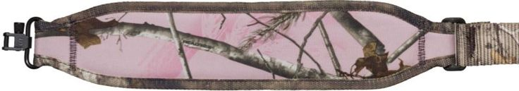 "The Pink RealTree® ""Xtra"" camouflage pattern on this sling is stylish and attractive. This padded nylon rifle sling features our exclusive slide-lock buckle. Rapid length adjustment is an easy two finger operation. Also featuring super swivels and a firm yet conforming shoulder pad with a suede lining. 1¼"" webbing makes it strong yet comfortable. Sizes 25""-38"" & 35""-51""."