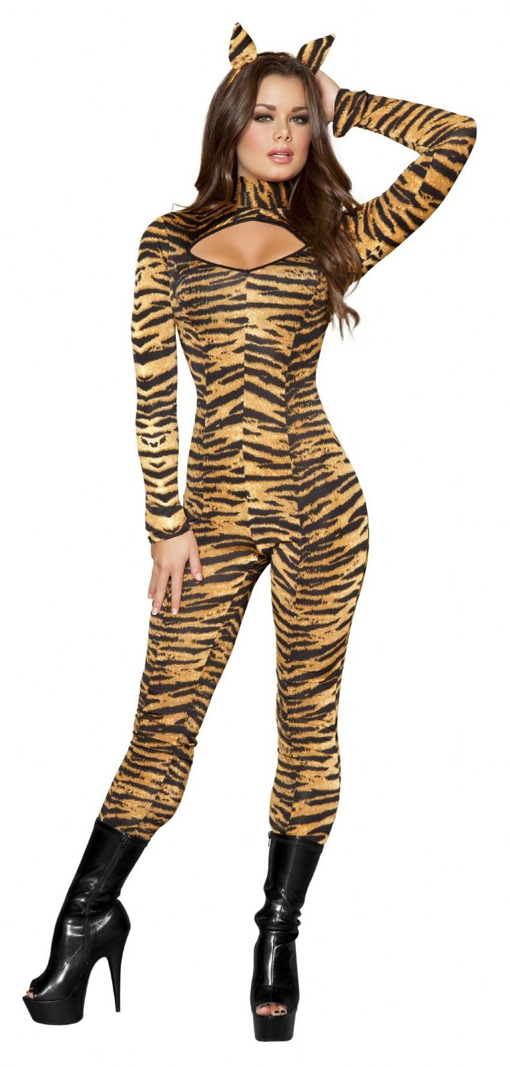 3pc Sassy Tigress Fancy Dress Costume | Dessie Mitcheson ...