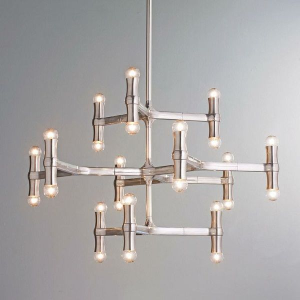 Find This Pin And More On Lighting By Gabriellapatai. Modern Bamboo  Inspired ChandelierThis Dramatic Bamboo Inspired Shape ...