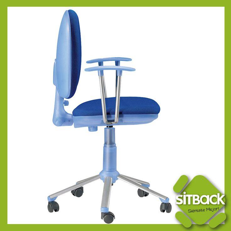 Añade un toque de color a tu zona de trabajo o estudio! #SillasOficina #Color #ergonomía