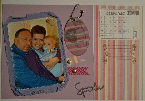 scrap kalendář červenec: