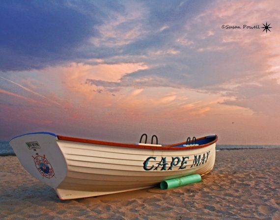 Beach Photography, Cape May Photos, Cape May New Jersey, Boat Photography, Beach Photos, Jersey Shore Photos, Sunset Photography on Etsy, $12.00