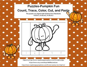 The 40 best puzzles for the primary images on pinterest counting kindergarten no prep puzzles count trace color cut and paste 3 kss fall ccuart Gallery