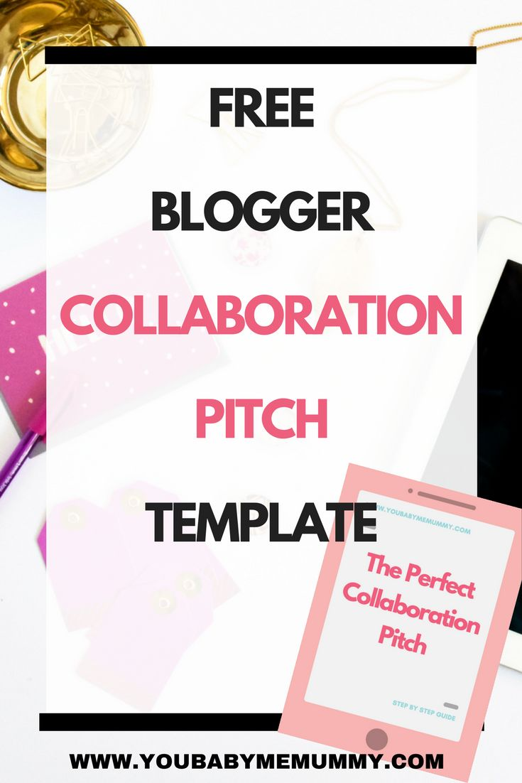 Do you fancy working with other bloggers? Not sure how to take the first steps? Free blogger joint venture pitch template