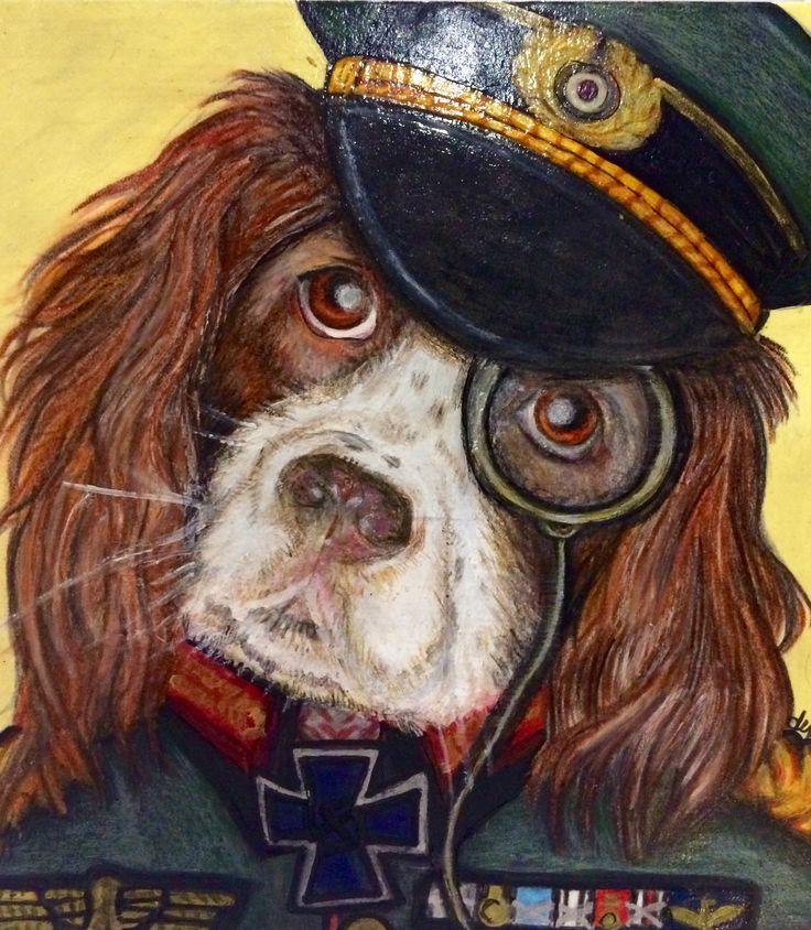 Rolo the dog portrait