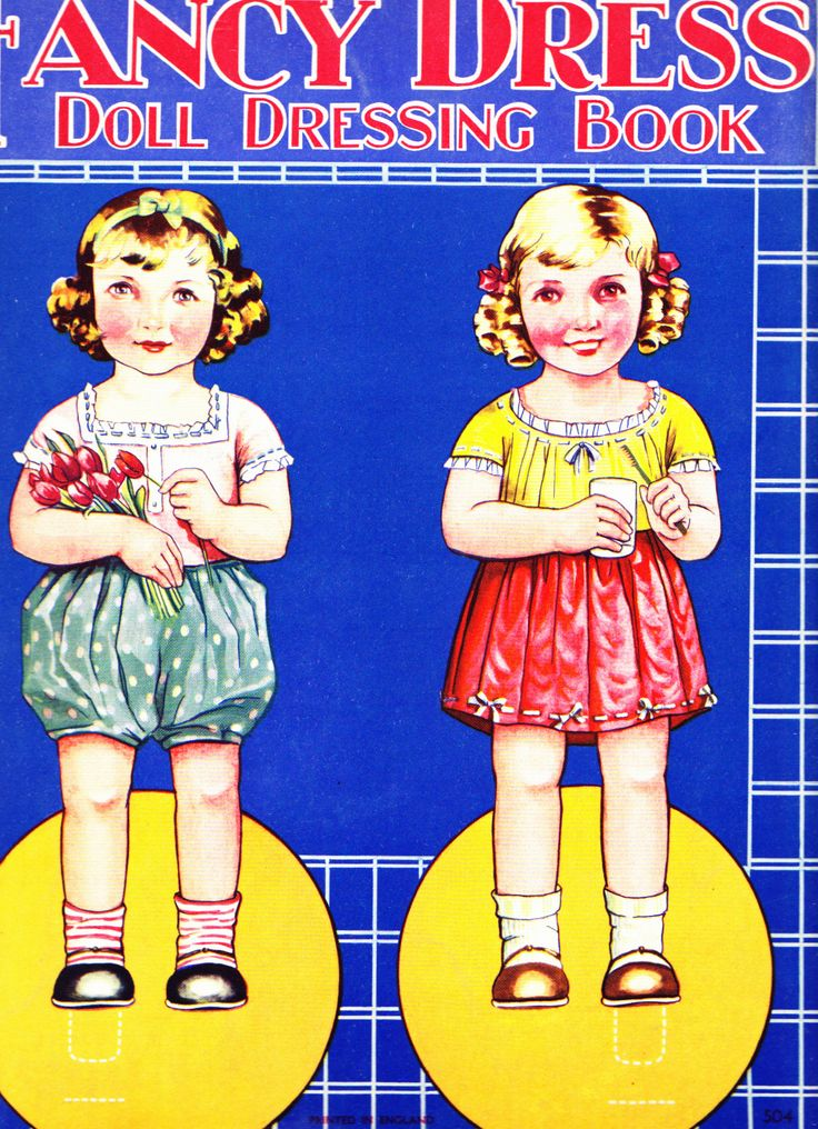 Back cover of Birn Bros Fancy Dress Doll Dressing Book ca 1930s