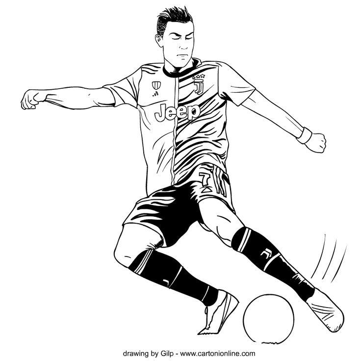 Dibujo 4 de Cristiano Ronaldo para colorear en 2020 ...