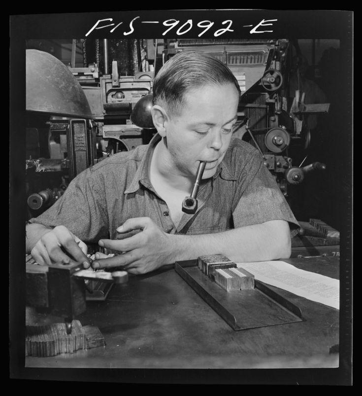 «New York Times»   Ein Bild aus einer früheren Zeit: Ein Schriftsetzer bereitet die Schriftplatten vor.