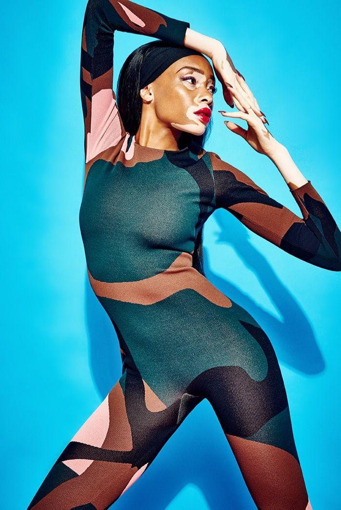 Winnie Harlow stars in GQ Portugal's November issue wearing Dior looks