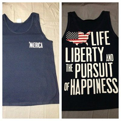 Merica Life  Liberty  and the Pursuit of Happiness tank tops