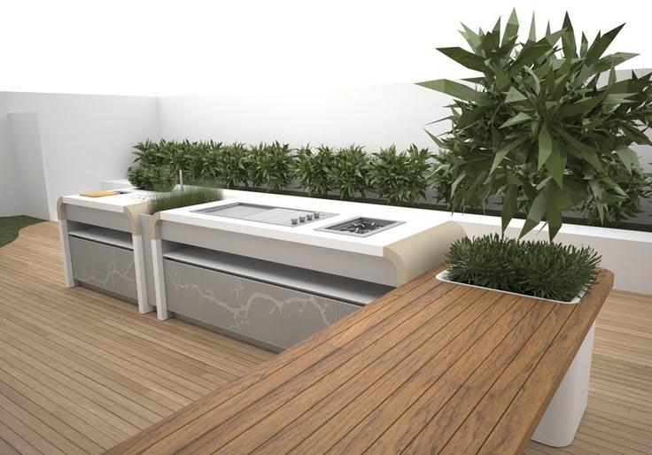 Future House Design: Electrolux Modern Outdoor Kitchen by landscape designer Jamie Durie