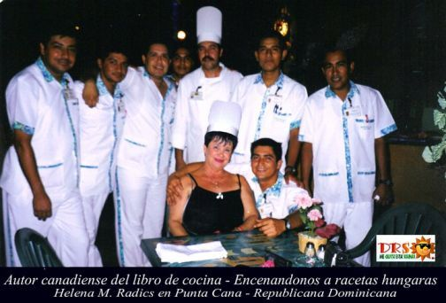 Cookbook author Helen M. Radics and her Chef students - visit website http://besthungarianrecipes.sharepoint.com