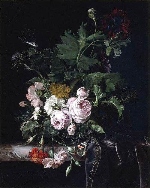 Still Life, 1677, Willem van Aelst.