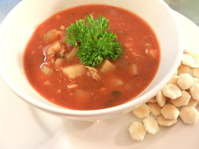Oh, YUM! I've actually never had Manhatten Clam Chowder before and BOY was I missing out!!!!!!! It was so yummy and filling! I loved the v...