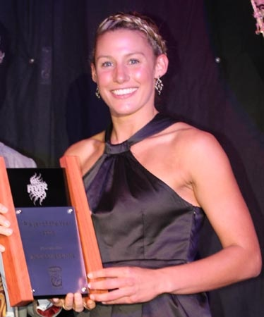 Madi Browne chose plait and hair up for the Netball WA awards dinner a couple of years ago - great hair style on a warm night.