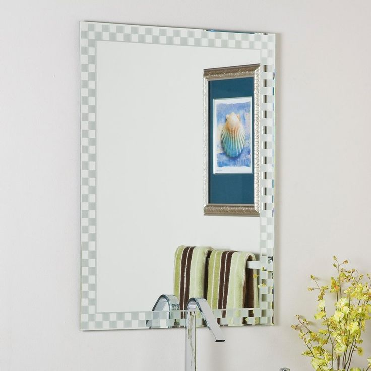 Shop Decor Wonderland 236 In W X 315 H Rectangular Frameless Bathroom Mirror