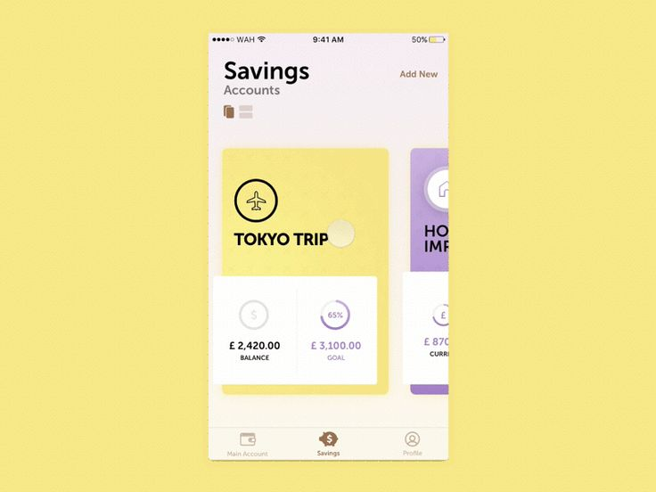 Savings Account Concept - Mobile Bank