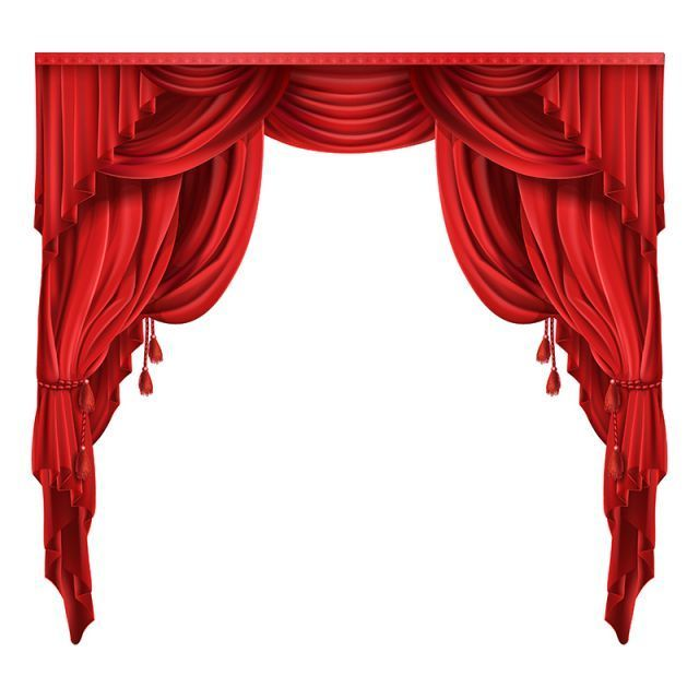 Theater Stage Red Curtains Realistic Vector Png And Vector Blackoutcurtains Red Curtains Stage Curtains Curtain Decor