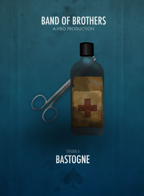 Eugene! Chocolat. Pour vous., BAND OF BROTHERS MINIMALIST POSTERS † Episode 6- Bastogne.