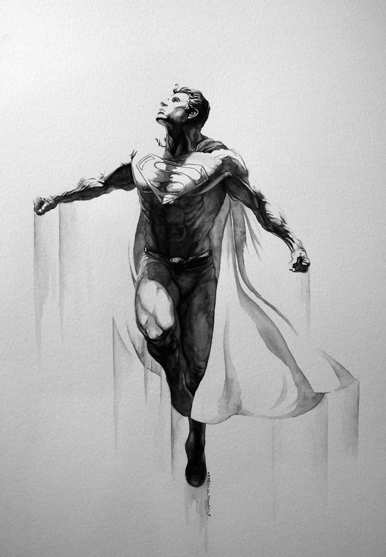 Superman  Ascension  Painting by Eric W. Meador Comic Art