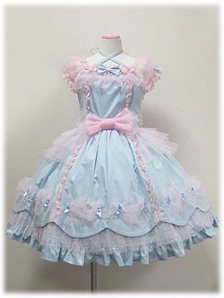 cute dress japan japanese kawaii my post bows bow girly pastel fairy lolita cotton candy PASTEL COLORS angelic pretty ap sweet lolita fairy kei tulle pastel fairy