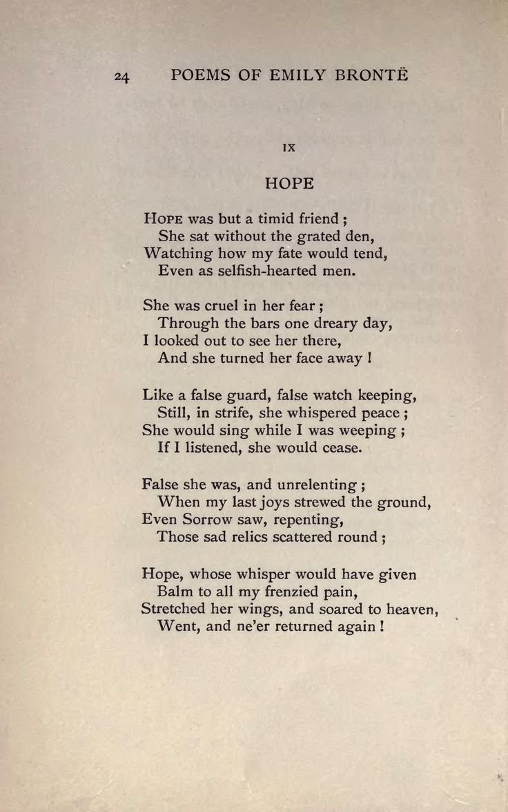 Hope By Emily Bronte Google Search Poems Emily Dickinson Poems Poetry