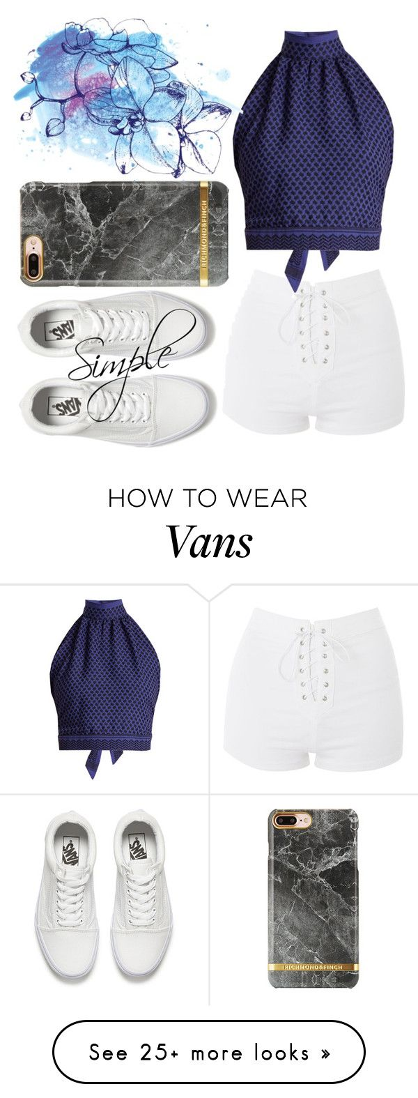 """Simple 6"" by rose-chan-needs-a-life on Polyvore featuring Topshop, CECILIE Copenhagen and Vans"