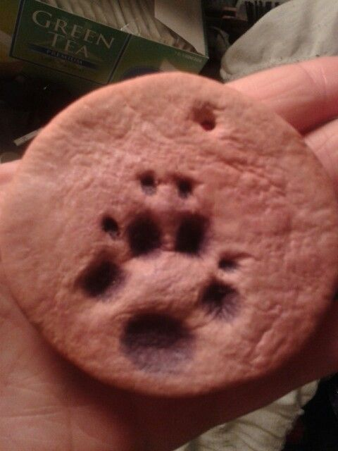 Home made gift for my uncle ♥ paw print from my dog