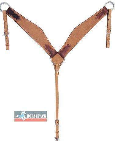 Breastcollar    doppelt genäht, mit Latigo unterlegt. Stabiles Vorderzeug.   Natur